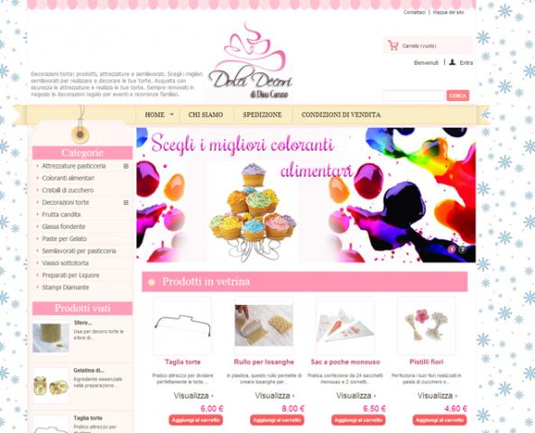 Realizzazione ecommerce di dolci