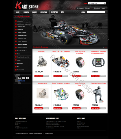 sito ecommerce ricambi kart