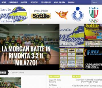 Sito Web per la Pallavolo Morgan Sottile