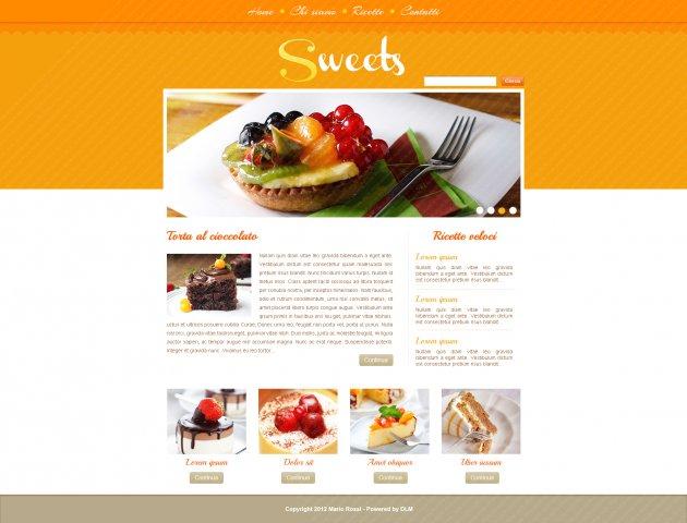 Blog di cucina, grafica di prova